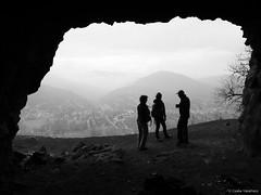 Hermit Cave (Csaba Vásárhelyi) Tags: people bw hungary fuji fujifilm cave duna danube x10 magyarország emberek barlang