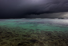 Rain on the reef (snowyturner) Tags: sea sky storm water rain clouds sand rocks day shallow transparent reef westernaustralia yallingup