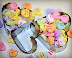 ~Hearts full of Love... (nushuz) Tags: hearts colorful unique valentine candyhearts cookiecutters conversationhearts myfunnyvalentine heartfulloflove missingmyvalentine mineisempty