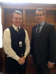 Monte with  Eric Muellejans, who was representing Lambton-Kent-Middlesex at a Model Parliament event held at Queen's Park