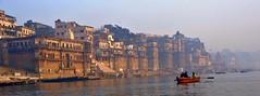 Ganges Red Boat (BrianRope) Tags: india varanasi