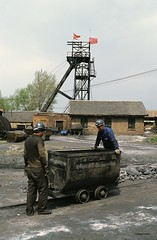 Local coalmine scene (Frhtau) Tags: china tower work asian countryside asia mine republic peoples winding local coal province shaanxi coalminer