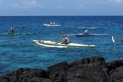 after the race (BarryFackler) Tags: ocean sea beach water race outdoors hawaii polynesia bay coast boat pacific horizon shoreline paddle rocky canoe pacificocean coastal shore bigisland paddling watercraft kona outrigger 2014 lavarock honaunau konacoast outriggercanoe hawaiicounty aama southkona hawaiiisland honaunaubay westhawaii barryfackler barronfackler