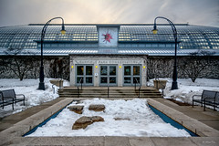 Garfield Park (Andy Marfia) Tags: winter snow chicago cold iso200 doors entrance conservatory garfieldpark garfieldparkconservatory f35 1500sec d7100 1685mm