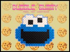 Cookie monster (Bubble Gummy pixel art) Tags: monster cookie pixelart cookiemonster hama perler monstruo galletas 8bits hamabeads monstruodelasgalletas perlerbeads beadsprite