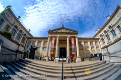 The Ashmolean (gwpics) Tags: uk greatbritain england people building english tourism museum architecture relax person unitedkingdom britain relaxing fisheye oxford leisure relaxation oxfordshire oxon ashmolean editorialuseonly