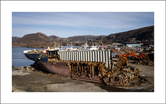 At the shipbreaking yard (Christa (ch-cnb)) Tags: industry norway boat norge ship decay olympus peninsula srtrndelag zuiko swd e5 shipbreaking trndelag fosen fourthirds revsnes zd1260mm fosengjenvinning arctictrans
