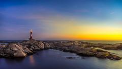 Golden glow at Eigery lighthouse (Richard Larssen) Tags: sunset lighthouse seascape norway photography norge foto sony richard fyr magma rogaland anorthosite geopark eigeryfyr dalane larssen eigery eigeroy anortositt richardlarssen