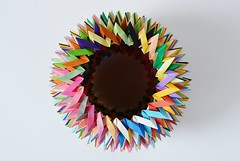 """The Alphabet"" Twentysix Interlocking Icosakaipentagonal Stars (Byriah Loper) (Byriah Loper) Tags: paper compound origami alphabet polar complex polygon paperfolding planar modularorigami byriahloper"