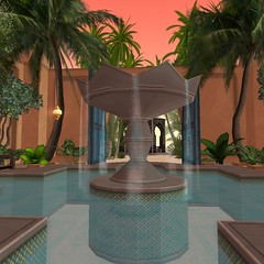The Challenge | Close up of Water (Hidden Gems in Second Life (Interior Designer)) Tags: life home garden design desert interior oasis second decor challenge moroccan the