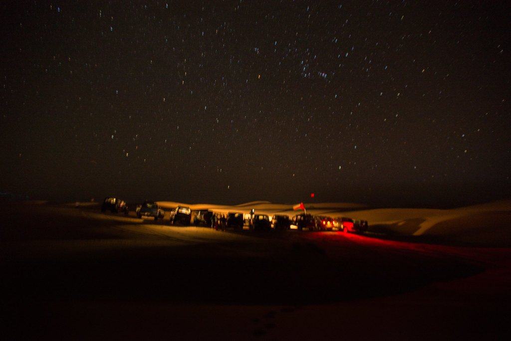 Driving below a carpet of stars