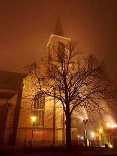 St. Lambertuskerk in de mist / Helden