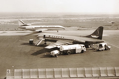 2 Caravelle at Nice Airport, September 1960 (David B. - just passed the 7 million views. Thanks) Tags: vintage airport nice aviation board flight september vol boarding sud airfrance 1960 sabena caravelle sudaviation aéroport avgeek fbhrs oosrg