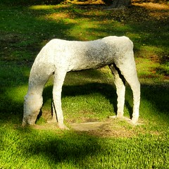 White horse of peace (GuidoCostantini) Tags: life park light sculpture horse art love beauty garden peace arte soul pace lovely anima cavallo amore luce whitehorse vita bellezza scultura