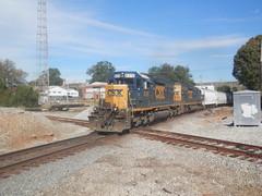 CSX Q611 in Newnan, GA (RedneckRailfan610) Tags: railroad ga georgia god redneck railfan freight newnan csx cofg awp emd sd402 octoberpictures