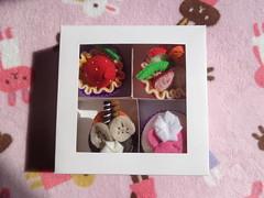 Felt playfood (Chasing Miss Rainbow) Tags: food fruit strawberry felt cupcake playfood