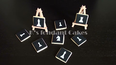 Chess Set Cookies (K's fondant Cakes) Tags: cookies set stencil handmade chess
