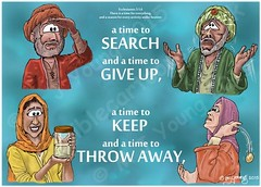 Ecclesiastes 03 - A time for everything - Scene 05 - Search, give up, keep, throw (Martin Young 42) Tags: woman man search jar keep throwing keeping searching storing throwaway givingup ecclesiastes giveup abandoning discarding ecclesiastes36