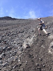 Scree running down Ngauruhoe