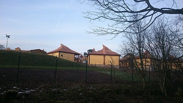 Some of the completed lodges