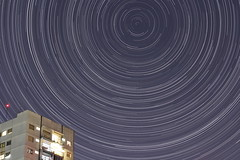 Startrails (~ jose ~) Tags: building argentina night stars buenosaires nightshot buenos aires south pole astrophotography estrellas celestial southpole startrails