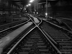 Berliner Unterwelt (Sockenhummel) Tags: mono blackwhite fuji tunnel finepix ubahn fujifilm x20 schienen schwarzweis tunnelführung fujix20 ubhfdeutscheoper