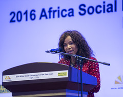 Gala Dinner celebrating the 2016 Africa Social Entrepreneurs of the Year Awards, co-hosted by the Schwab Foundation for Social Entrepreneurship and The Motsepe Foundation. (Jeannette Kagame) Tags: africa lady first social rwanda foundation entrepreneurship wef serena jeannette schwab 2016 kagame imbuto motsepe