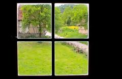 Bucolic Window (italo svevo) Tags: windows verde green nature deutschland four nikon outdoor fenster 4 natur natura campagna ventanas grn quatro nikkor vier inout fenetre bucolic quattro fenetres finestre durchblick campi quatre bucolico rurale attraverso bukolisch d7000 nikkor35mm118gdx