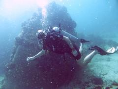 Koh Tao (Scuba Diving), Thailand (Jan-2016) 14-089 (MistyTree Adventures) Tags: ocean sea water thailand twins marine asia seasia underwater outdoor diving scubadiving diver kohtao gulfofthailand scubadiver panasoniclumix
