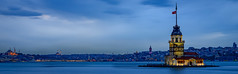Overcast Evening - Maiden Tower, Istanbul (Aleem Yousaf) Tags: blue tower turkey 50mm evening photo nikon walk overcast hour maiden bosphorus d800 kiz kulesi leanders