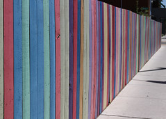 Stripes (Helen Orozco) Tags: colors fence long colours stripes hff fencefriday happyfencefriday