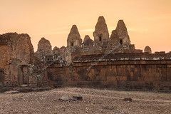 Pre Rup Temple (Angkor) at Sunset (baddoguy) Tags: blue sunset sky people yellow horizontal architecture outdoors photography twilight ancient cambodia khmer adult dusk small nopeople tourist unescoworldheritagesite unesco backgrounds backlit copyspace transparent care siemreap angkor ancientcivilization cultures photographing embracing orangecolor traveldestinations colorimage oldruin constructionindustry goldcolored templebuilding photographythemes builtstructure cambodianculture businessfinanceandindustry