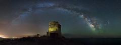 [watchtower] (Ennio Pozzetti) Tags: sardegna sea italy tower night stars photography lights nikon sardinia nightscape spanish watchtower santantioco stelle milkyway d810 vialattea