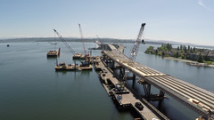 An aerial view of the West Approach Bridge North (WSDOT) Tags: sr520 wabn west approach bridge north infrastructure construction za