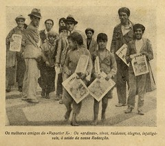 """Vendedores do jornal """"Reporter X"""", 1931 