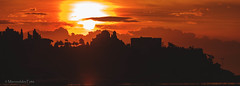 Rising sun (Mavroudakis Fotis) Tags: city vacation sky urban orange sun color colour tourism silhouette skyline sunrise buildings landscape corporate dawn lights town office holidays europe cityscape district centre central landmark structure business commercial destination rays sunrays executive sunbeam timeless wealth finance kavala macedonian makedonia  macedoniagreece