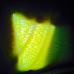 . (Lauri Laurn) Tags: abstract blur green art yellow dark contemporaryart contemporary curtain fabric inside lime photoart outsiderartist laurilaurn