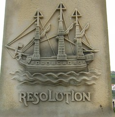 Resolution plaque, Captain Cooks monument, Whitby, North Yorkshire (rossendale2016) Tags: sea monument plaque ship harbour yorkshire north cook whitby resolution overlooking ctain
