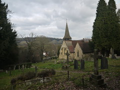 Westcott Church (Worthing Wanderer) Tags: winter cloudy walk surrey february dorking westcott greensand