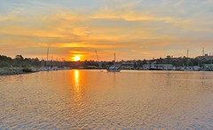 Rozelle Bay sunset (Seor Bz) Tags: ocean sunset sea sky orange lake color colour bay horizon sydney australia rozelle