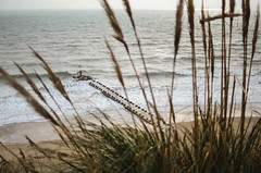 Bournemouth sea (Agata Winiarska) Tags: ocean uk sea summer england sky beach water landscape sand dorset bournemouth