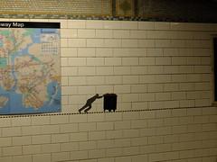 Carrying On (2003) (failing_angel) Tags: usa newyork manhattan subwaystation ussa princestreet carryingon janetzweig edwarddelrosario 300515