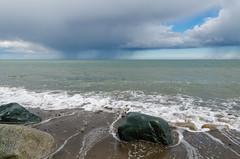 Rain Clouds - DSC_0265 (John Hickey - fotosbyjohnh) Tags: ireland dublin seascape clouds coast seaside nikon seashore rainclouds irishsea shankill 2016 nikond5100 may2016