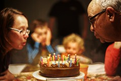 Cake time  (nzcarl) Tags: family people cake canon candles candle indoor blow celebration f2 birthdays russian boken helios 6d canon6d