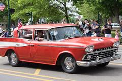 Red Rambler (marylea) Tags: red classic car community classiccar michigan parade rambler dexter memorialday 2015 may25 memorialdayparade washtenawcounty