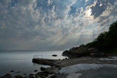Sunbeams (Budoka Photography) Tags: waterscape water sweden ransvik kullaberg wideangle sonyvariotessartfe1635mmf4zaoss sonyalpha7rmr2 sonyyilce7mr2 shcolsson serene sky clouds seascape rocks outdoor sunbeams tranquility calm
