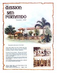 Vacationland Fall 1965 28 - Mission San Fernando (Tom Simpson) Tags: vintage advertising ad advertisement mission 1960s sanfernando vacationland 1965 vintagead