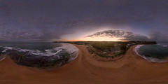 Mona Vale Beach at Sunset (Rodney Campbell) Tags: ocean sunset au australia 360 aerial newsouthwales monavale drone