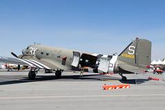 Palm Springs Air Museum Douglas C-47B (DC-3C) N60154 (jbp274) Tags: vintage airport display airplanes airshow restored hemet douglas skytrain dc3 warbird c47 palmspringsairmuseum ryanfield hmt khmt