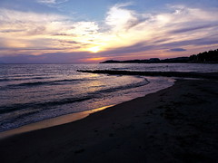 Aegean Sunset (R_Ivanova) Tags: light sunset sea summer sky cloud sun color beach nature water colors clouds turkey landscape coast seaside    fujifilmfinepix   rivanova